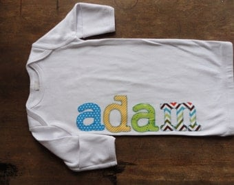 Personalized Name or Monogram on Infant Gown