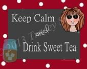 "Keep Calm & Drink Sweet Tea,  Mason Jar Gang"" T-shirt, Country Humor, Redneck, Dixie, Funny,"