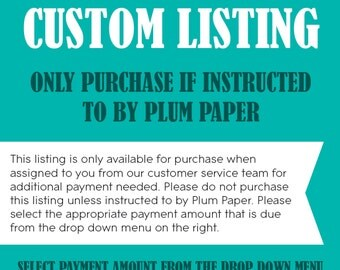Custom Listing: Additional Payment