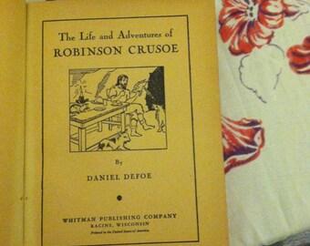 Robinson Crusoe, Daniel Defoe, vintage hardback Classic Book, Children Adventure, young adult book