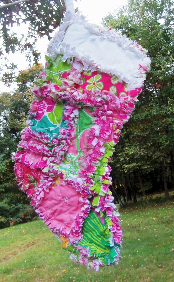 Lilly pulitzer christmas stocking dune buggy by dmaeredesigns