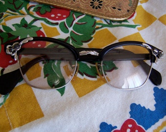 small awesome vintage cat eye glasses