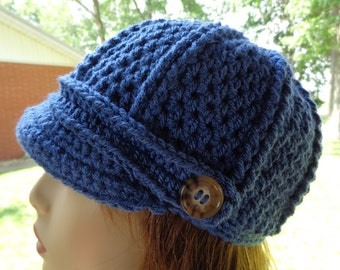 Newsboy Cap in Dk. Country Blue