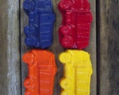 Garbage Truck Crayons / Recycled Party Favors / Set of 4 / Party Favors / Fun Kids GIft