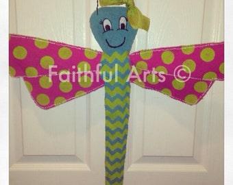 Dragonfly Burlap Door Hanger
