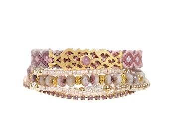SALE - The ORIGINAL gypsy multiple strands bracelet - multistrand layered bracelet - layering bracelet - bracelet stack - gypsy jewelry