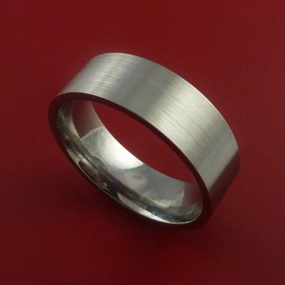 Titanium Wedding Band Classic Engagement Ring Made to Any Sizing and Finish 3-22