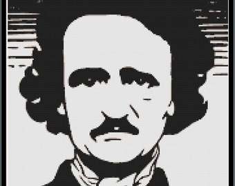 Edgar Allan Poe Cross Stitch Pattern