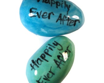 Clay Happily Ever After Robin's Egg Wedding Favor