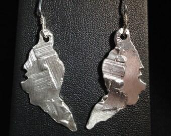 Earrings in Sterling silver lost wax casting