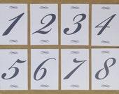 Simple Flourish Table Numbers - Set of 20