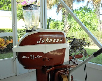 Drink Blender Gas Powered Portable 1957 Johnson Outboard Motor