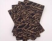 Wine Lovers' Brown Script Wine Varieties Cloth Napkins- Set of 4