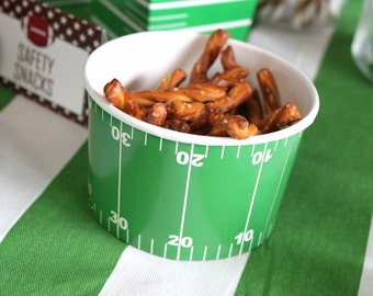 Football favor cup, chili soup cup, bowl (12), green favor cup, party favor, candy box, favor, box, cup, bowl, party supplies