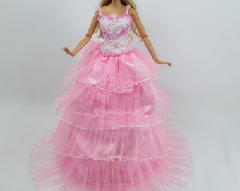 Barbie Doll Gown Lace Dress Royalty AB22