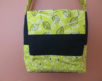 Kelly Ann 1318E  Bright Mustard Yellow and Black Purse, Shoulder Bag, Shoulder Bags, Purse, Purses, Handbag, Handbags, Up Cycled Fabric, Bag
