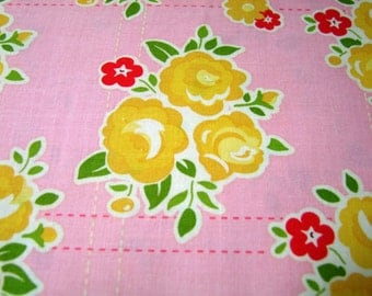 Pink Floral Fabric by the Yard Sidewalks October Afternoon Riley Blake Designs