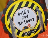 Construction Birthday Party Door Sign - Construction Birthday Decorations - Dump Truck Decorations