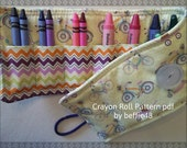 Kids Crayon Roll Up PATTERN, Easy to Make, pdf