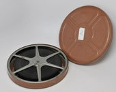 VINTAGE Metal 8MM Movie Reel with film in box 400 ft of film