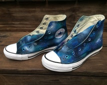 Galaxy Stars Converse Hand Painted Shoes