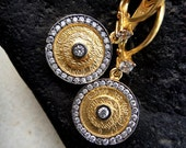 turkish antique inspired earring sterling 22 carat gold historic replica traditional asian