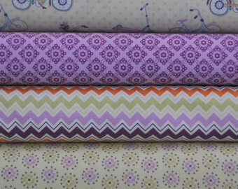 Dress Up Days Grape 4 Fat Quarter Bundle by Doohikey Designs for Riley Blake, 1 yard total