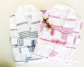 SALE %30 Unisex 5 BATHROBES Natural Cotton Robe Turkish Bath Robe Peshtemal Turkish Cotton Bath,Beach,Handmade Eco Friendly Light