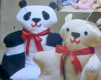 Panda Stuffed Animal Armchairs Pattern Childs Armchairs Butterick 4951 UNCUT