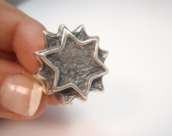 magen david , star of david  ring sterling silver 925