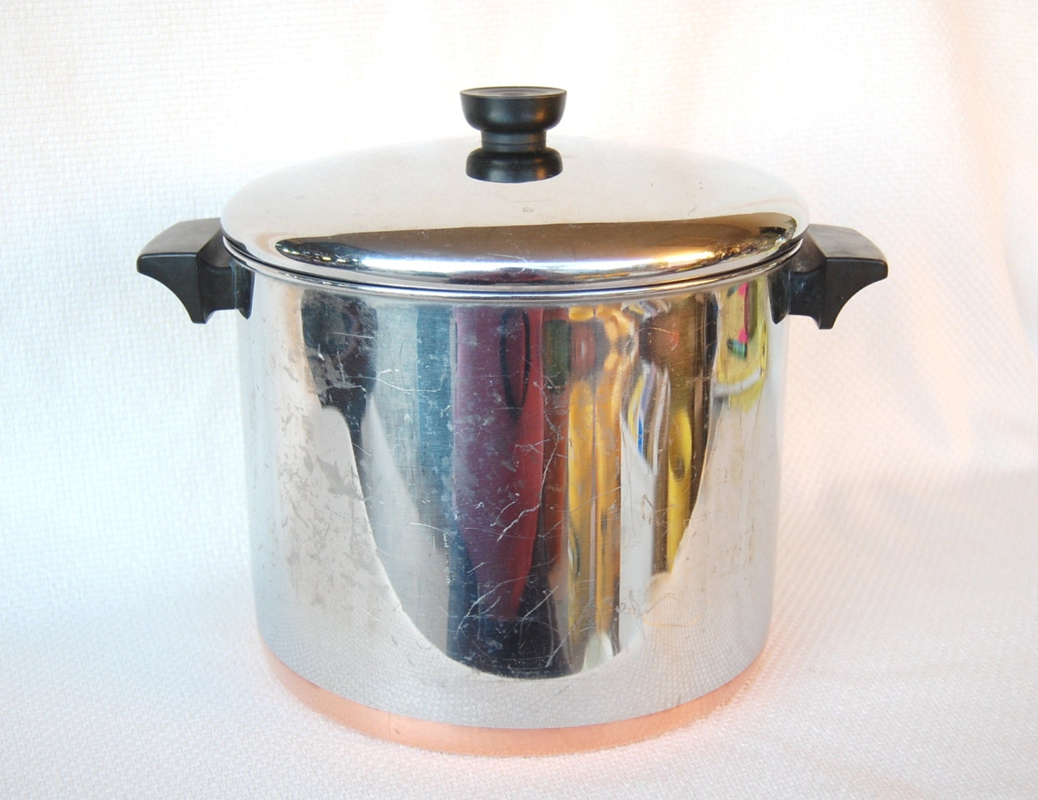 Vintage Revere Ware 8 Quart Stockpot Copper Clad Stainless