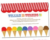 PRINTABLE Ice Cream Party Invitation #575