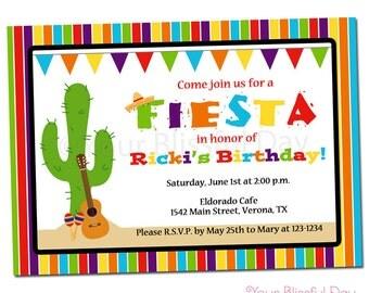 PRINTABLE Fiesta Party Invitation #106