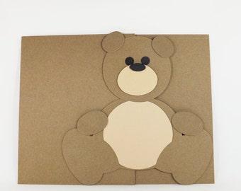 Raw Chipboard Teddy Bear Scrapbook Covers
