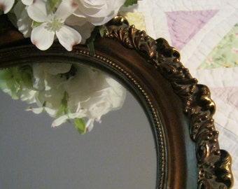 Ornate Wall Mirror Made in USA - Hollywood Glam - Oak Hill Vintage