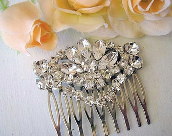 Wedding hair comb accessories Bridal hair comb  royal vintage style sparkle Rhinestones swarovski