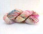 Sock Yarn Hand Dyed superwash Celeste in Vanilla Cupcakes yarn superwash merino nylon