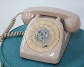 Retro Light Pink  Vintage Rotary Phone