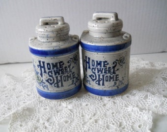 Large Cream Canister Salt and Pepper Shakers - Vintage, Collectible