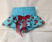 Female Dog Diaper Skirt Panties Britches Pet Wrap Size XSmall To XLarge Robin   Fabric