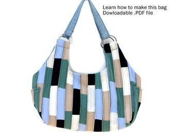 Handbag Pattern - Hobo Bag Pattern - Shoulder Bag Pattern - Digital Download Sewing Pattern - PDF Sewing Pattern