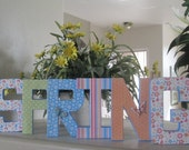 SPRING in paper mache letters - Easter Spring Decoration