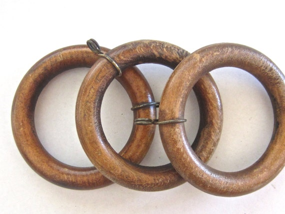 Vintage Wooden Curtain Rings By Theblindpeacock On Etsy
