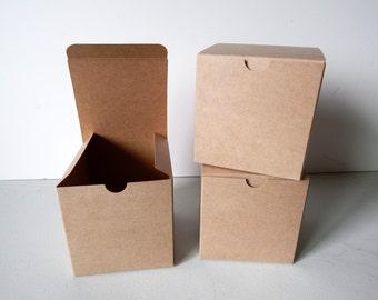 "20 - 4x4x4"" Kraft Gift Boxes"