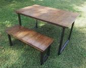 Wood Bench Rustic Reclaimed Wood Bench