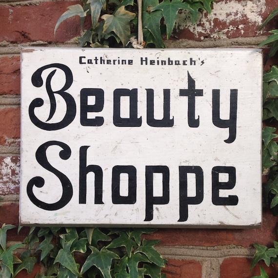 Vintage Beauty Salon Signs