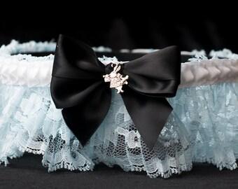 Alice in Wonderland Handmade Couture Style Fairytale Bridal Garter Custom Made