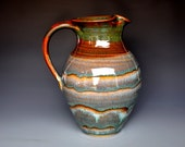 Ice Tea Pitcher Ceramic Stoneware A