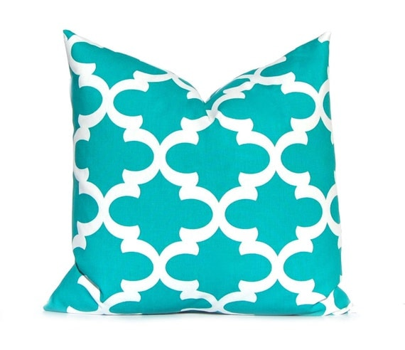 Turquoise Down Throw Pillows : Items similar to Turquoise Pillow Decorative Pillow Throw Pillow Cover Toss Pillow Cushion Cover ...