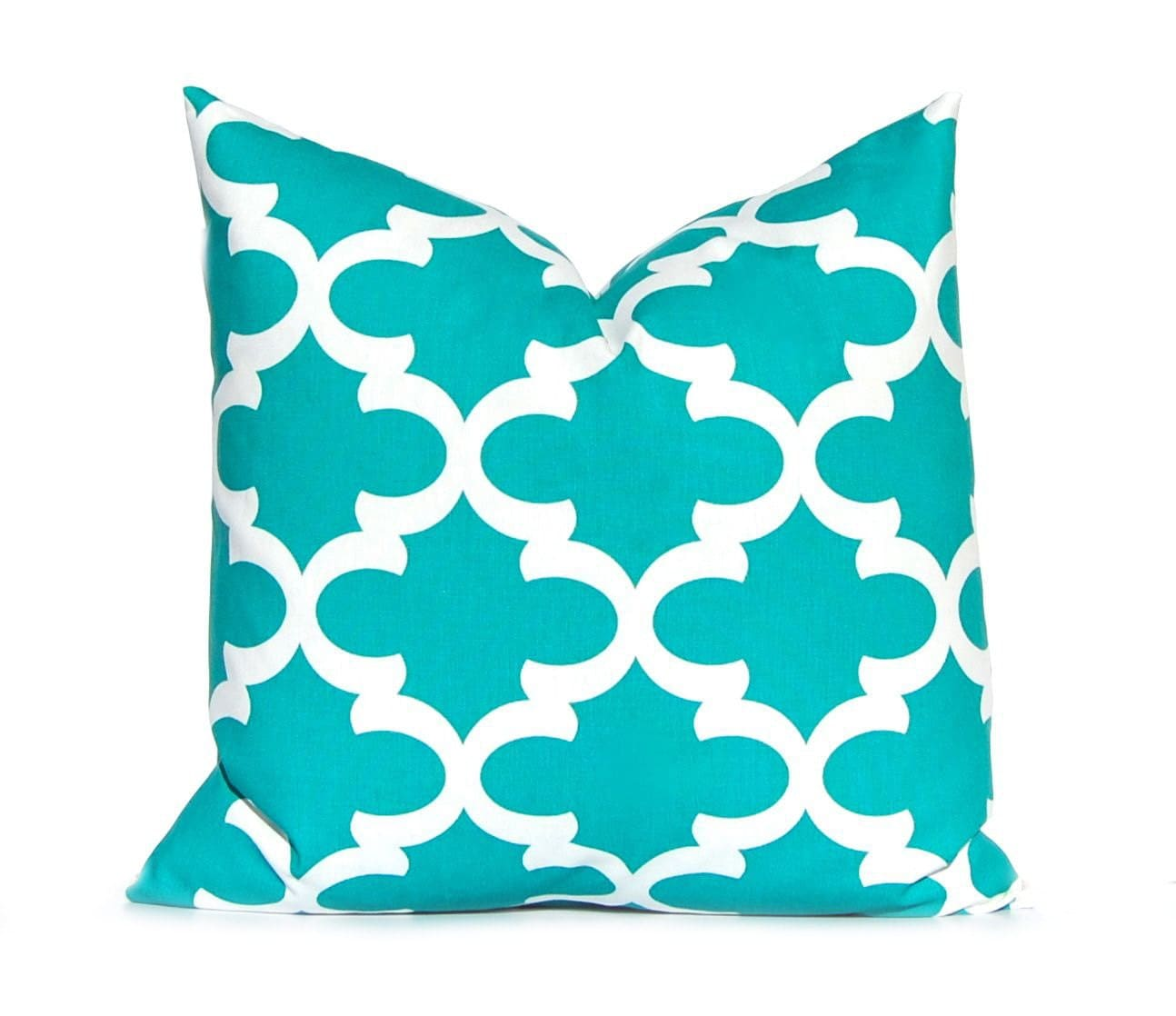 turquoise pillow decorative pillow throw by companytwentysix